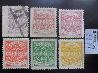 Самоа. 1877 г.  Первые марки.