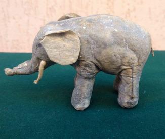 Ялинкова прикраса: Цирковий слон, вата, 30-40-ві рр.