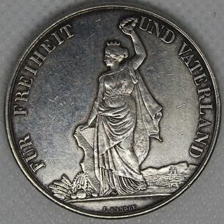 5 франков 1872 гг. Серебро. 25,11 г.