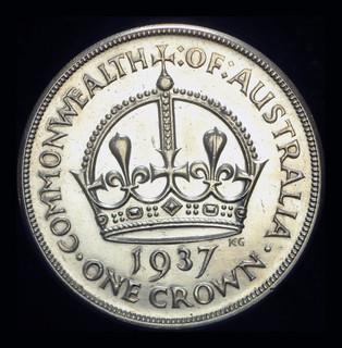 Австралия крона 1937  серебро Коронационная