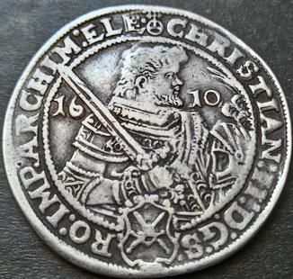 1 талер 1610 год. Саксония, Кристиан II, Иоганн Георг I и Август (1591-1611).