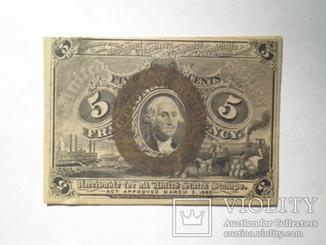 5 центов 1863 США.
