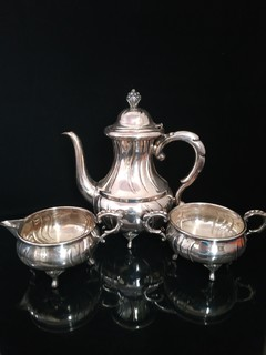 Чайный/кофейный набор/Серебрение/Клейма/Состояние/Европа