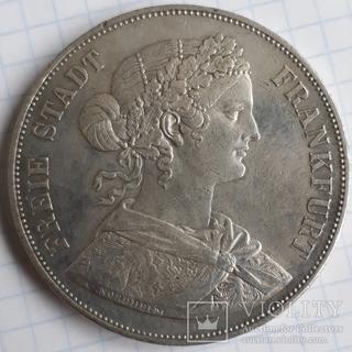 2 ференцталера 1861 Free Stadt Frankfurt