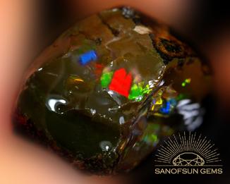 Шоколадный опал с топ опалесценцией в блоках 38.34ст 28х20х13мм Эфиопия