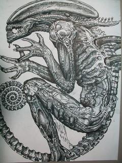 Рисунок Чужой