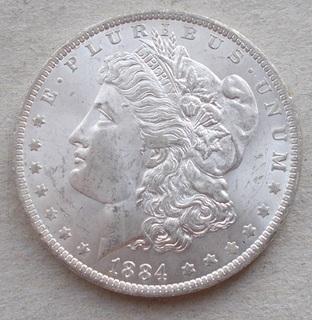 1 доллар 1884 О