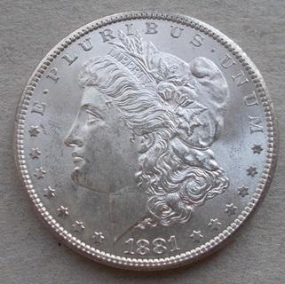 1 доллар 1881 S