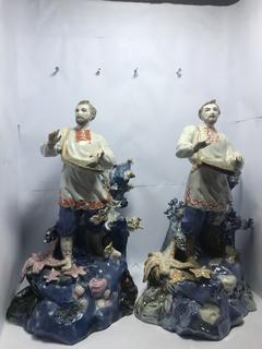 Садко 2 фигуры старый Киев и Киев + подарок 2 фигуры больших керамика и фарфор.