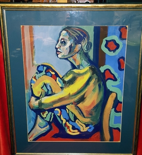 """Сидящяя женщина"",авангард,60-70-е гг.,нонкомформизм"