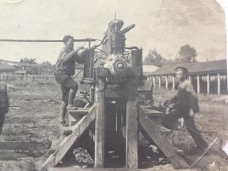 """Испытание двигателя для самолета """"Илья -Муромц""""-1919 год"""