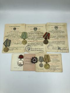 Комплект наград с документами