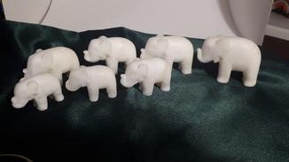 Слоники Мрамор комплект 7 шт.