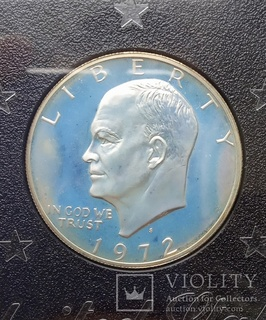 Proof Dollar Eisenhower Лунный Доллар 1972 в