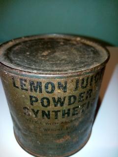 Банка лимонной кислоты.1941-1945 помощьUSA Ленд Лиз.