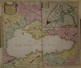 1750-е Карта Черного моря - 65х55 см.