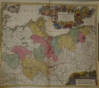 1750-е Карта Польши - 64 Х 54 см.