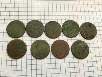 Один грош (9шт) станислава августа понятовського