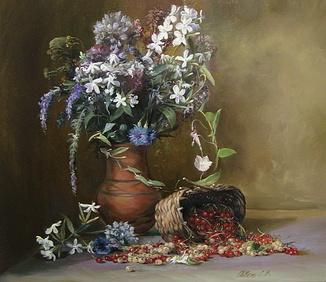 """""""Букет квітів"""" 60х70 см;полотно,олія, Півень С.В."""
