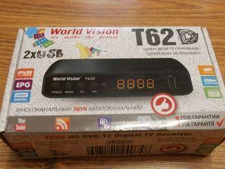 Тюнер Т2 World Vision T62D (Эфирный DVB-T2/C,Dolby Digital)+YouTube, IPTV, Megogo