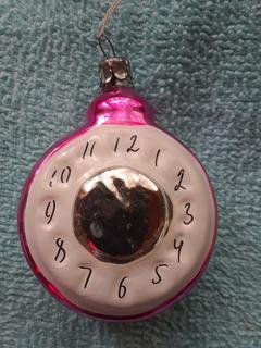 Ялинкова іграшка-годинник