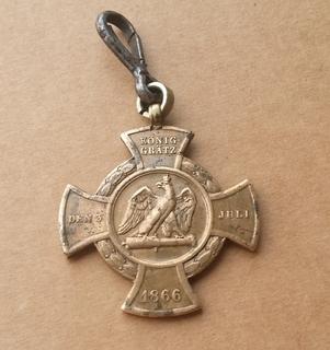 Пруссия, пушечный крест Кёниггрец Erinnerungskreuz 1866 Königgrätz