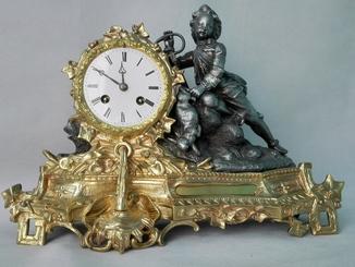 Каминные часы XIX века
