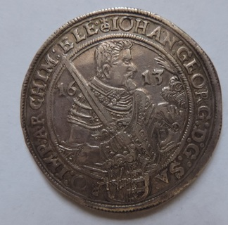 Талер Германия Саксония 1613