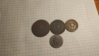 2 копейки 1924, 3 копейки 1924, 5 копеек 1924 +бонус жетон мир с портою