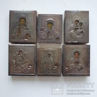 Иконки обереги, 6 шт., серебро 84, копия