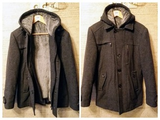 Пальто DSG на меху + жилет с капюшоном на меху р. 44-46