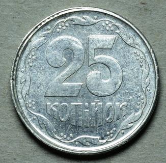 25 копеек 1992 шт.5.2 Серебро
