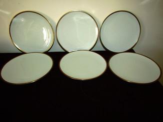 Тарелки фарфор золочение клеймо Schumann porcelain Германия