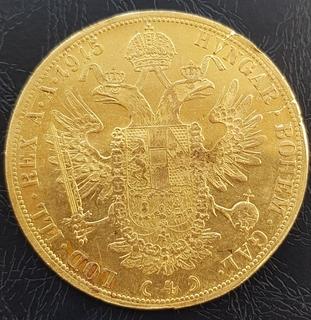 4 дуката 1915г., Австрія, золото 13,96 грам 986`
