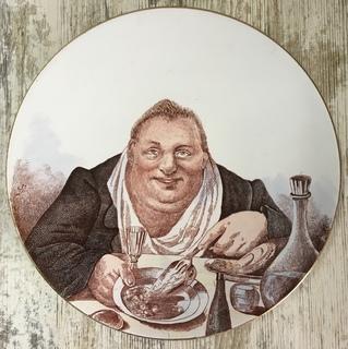 Настенная тарелка «Обжора», Кузнецов - 30 см.