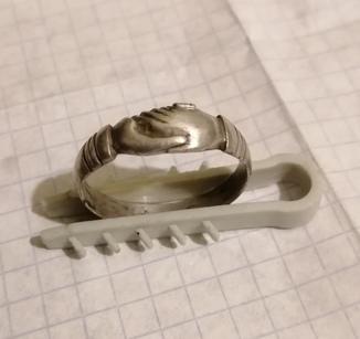 Серебряное кольцо (Рукопожатие)