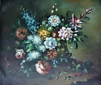 Картина. Масло. Цветочный натюрморт. L.Arnold. Holland