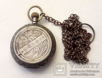 Серебряные Старинные Карманные Часы. 84 проба.