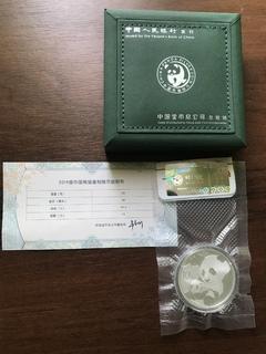 Монета китайська Панда інвестиційна срібло 2019