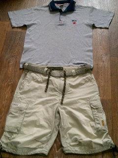 Levis  тениска + Abercrombie and fitch фирменные котон шорты