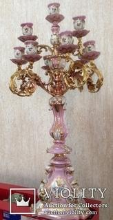 Фарфоровый подсвечник. Середина 19 века.