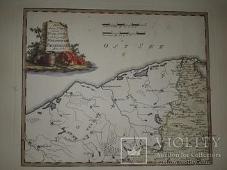 Карта Померании 18 века