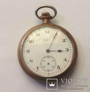 Старинные Карманные часы Elgin. Позолоченный корпус.