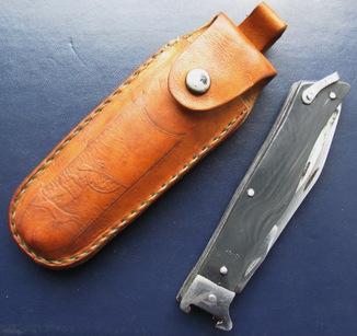 Нож охотничий СССР, в футляре, г. Монкавшири