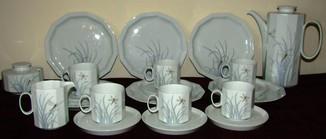 Сервиз чайник блюдца чашки тарелки сахарница тонкий фарфор Rosenthal Розенталь Германия