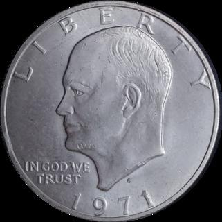1 доллар Серебро MS Eisenhower Лунный 1971 S