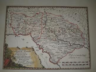 Карта Подолье 18 века