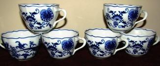 Чашки мейсенский дизайн фарфор синий лук Zwiebelmuster Богемия
