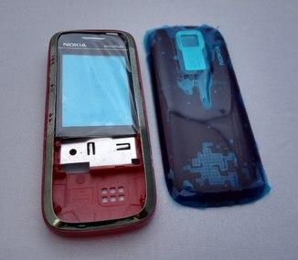 Корпус для Nokia 5130 Xpress Music черный с красной средней частью High Copy