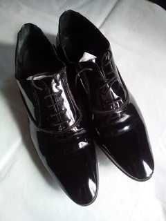 Мужские туфли черные лакированные Zara (Зара) - размер 43